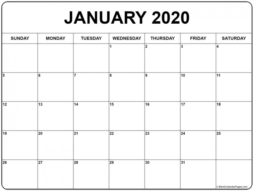 006 Unforgettable 2020 Blank Calendar Template Concept  Downloadable With Holiday Word