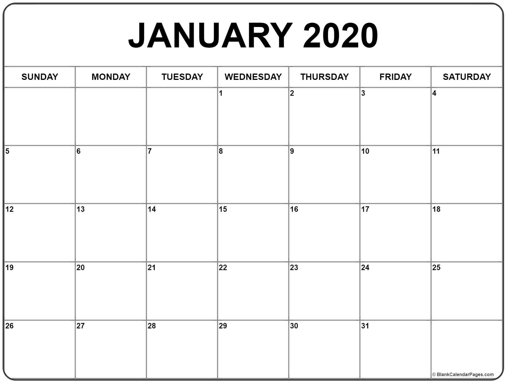 006 Unforgettable 2020 Blank Calendar Template Concept  Printable Monthly Word Downloadable With HolidayFull