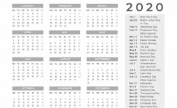006 Unforgettable 2020 Yearly Calendar Template Image  Word Uk