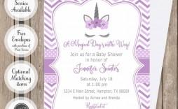 006 Unforgettable Baby Shower Invitation Girl Purple Highest Quality