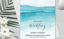 006 Unforgettable Beach Wedding Invitation Template Design  Templates Free Download For Word
