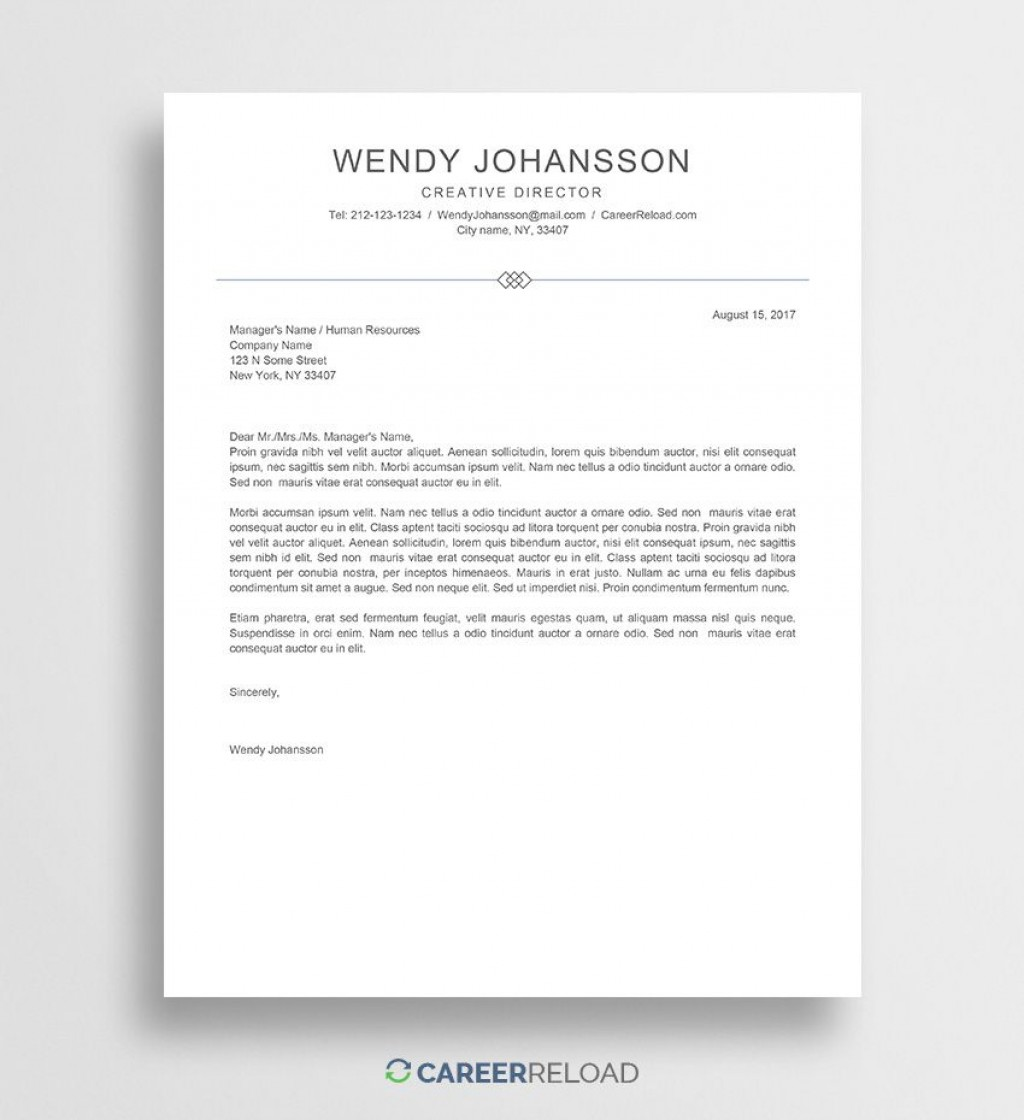 006 Unforgettable Cover Letter Template Word Free Sample  Creative Doc Microsoft 2007Large