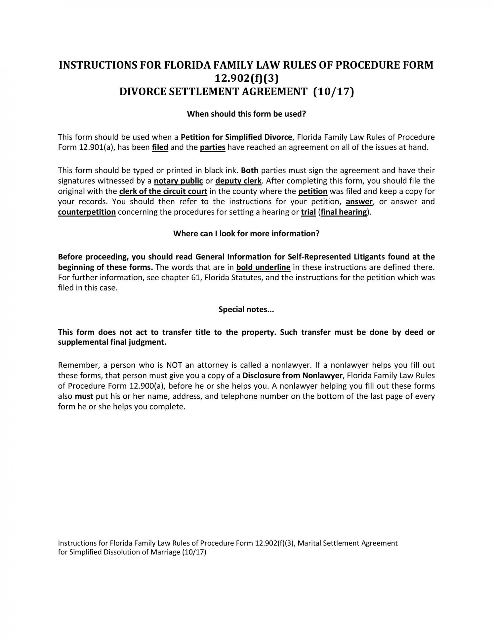 006 Unforgettable Divorce Settlement Agreement Template Highest Quality  Sample New York Marital Uk South Africa1920
