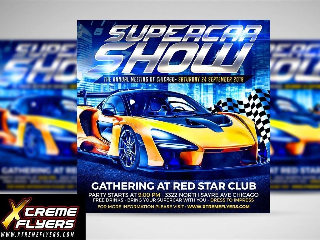 006 Unforgettable Free Car Show Flyer Template Inspiration  Psd And BikeLarge