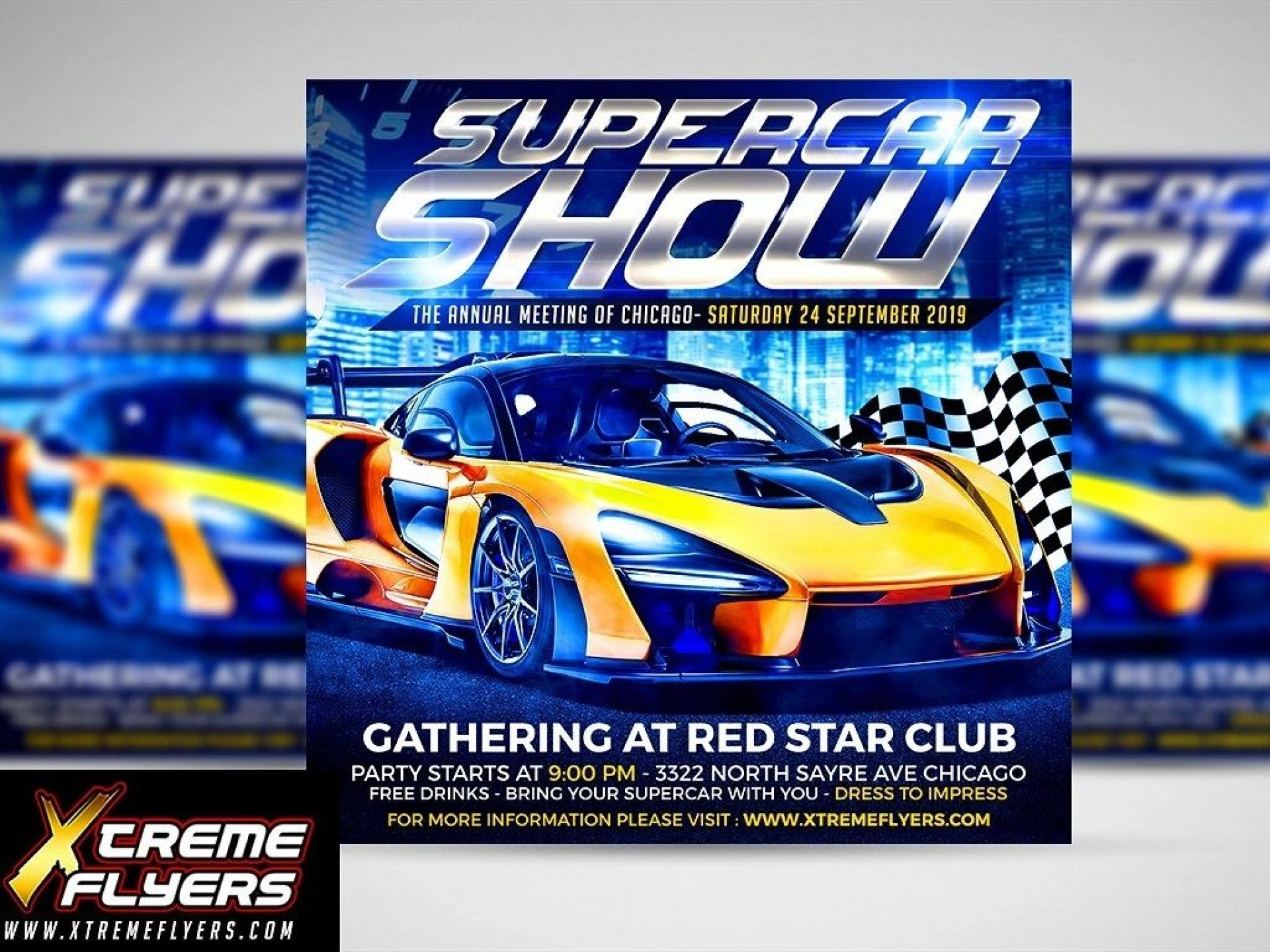 006 Unforgettable Free Car Show Flyer Template Inspiration  Psd And Bike1920