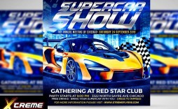 006 Unforgettable Free Car Show Flyer Template Inspiration  Psd And Bike