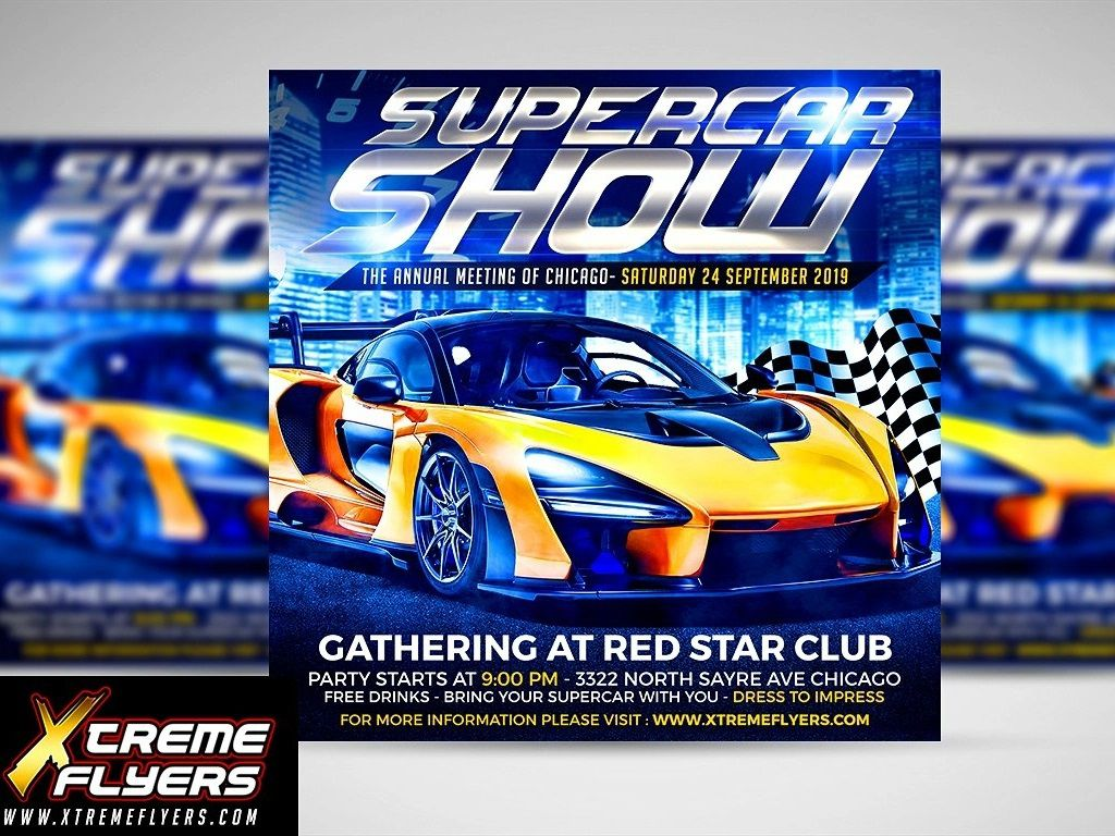 006 Unforgettable Free Car Show Flyer Template Inspiration  Psd And BikeFull