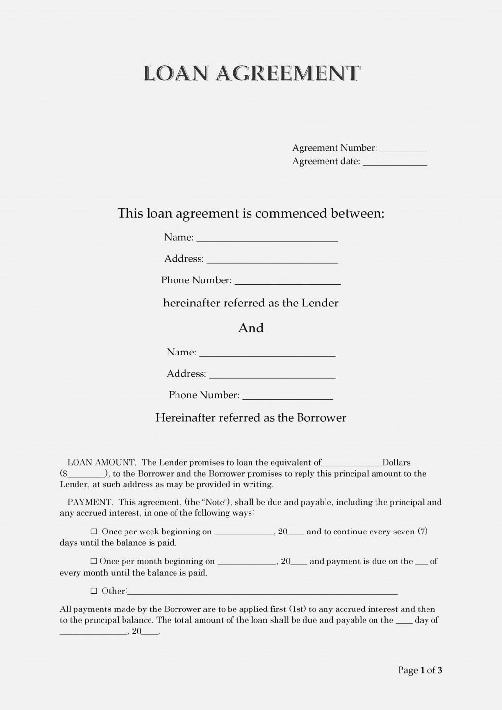006 Unforgettable Free Loan Agreement Template Inspiration  Word Uk South African InterestLarge