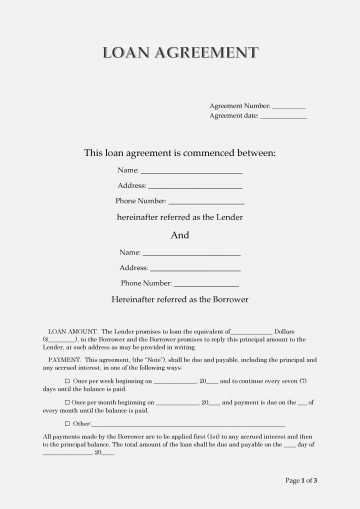 006 Unforgettable Free Loan Agreement Template Inspiration  Ontario Word Pdf Australia South Africa360