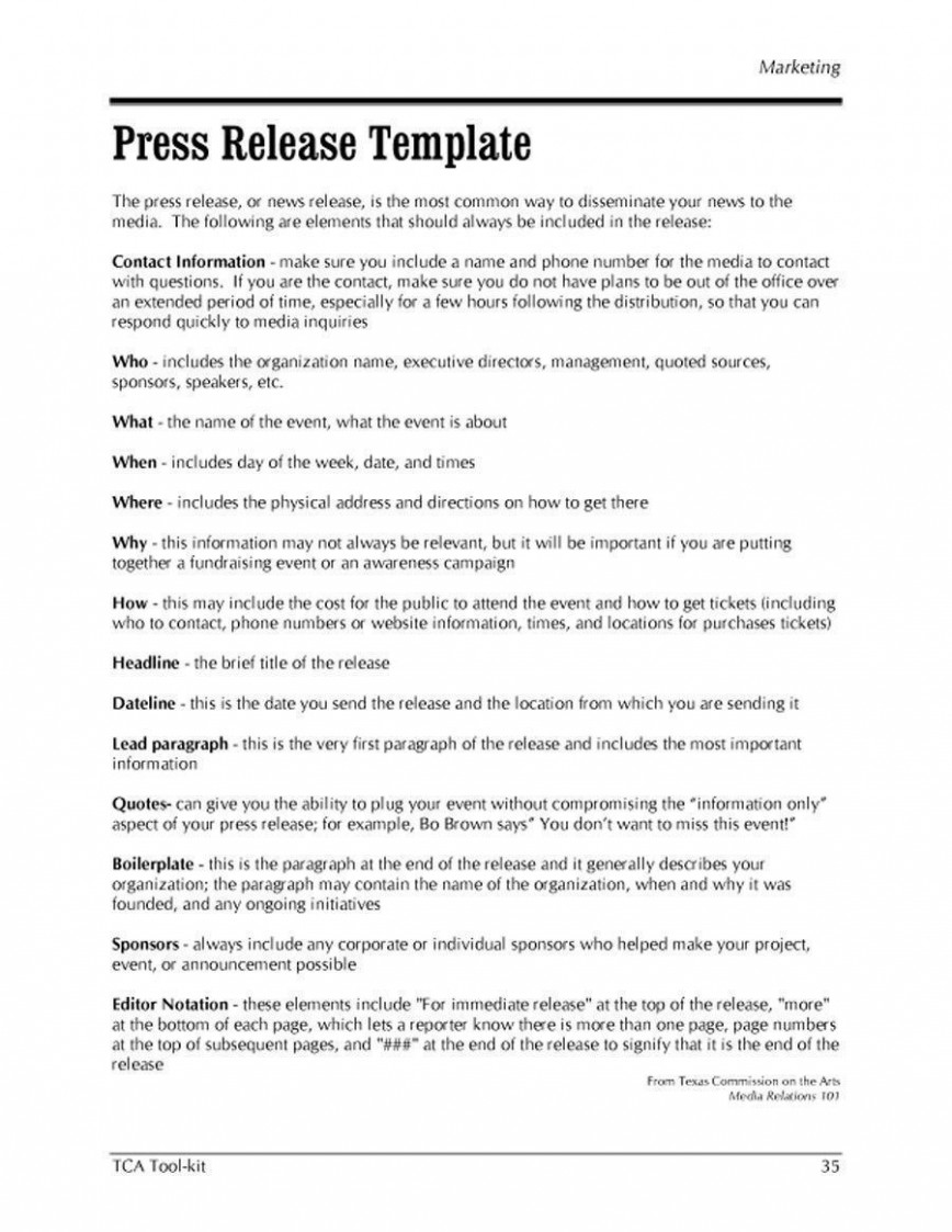 Free Press Release Templates Addictionary