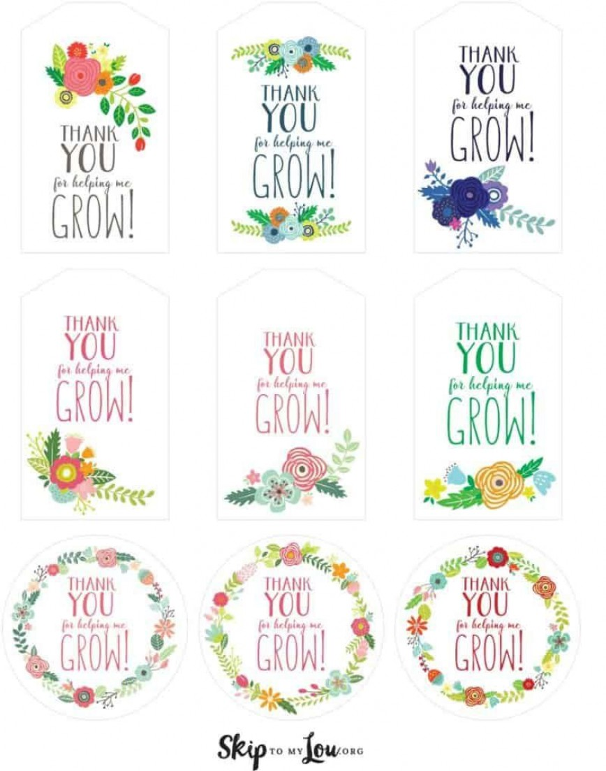 006 Unforgettable Free Printable Thank You Gift Tag Template Inspiration  Templates
