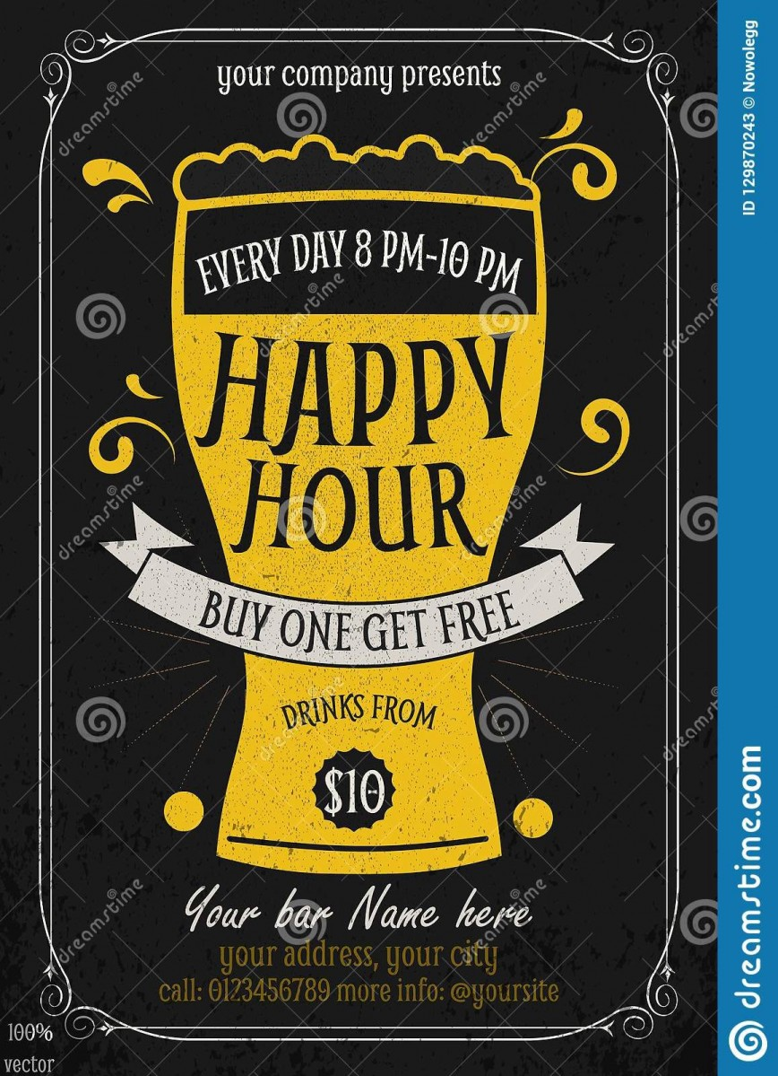 006 Unforgettable Happy Hour Invitation Template Idea  Templates Flyer Free Word
