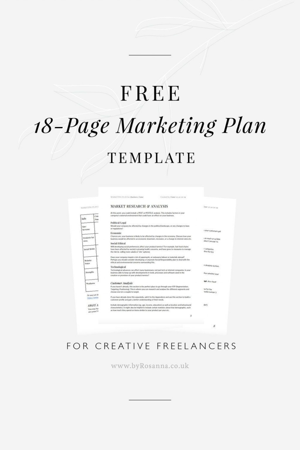 006 Unforgettable Marketing Busines Plan Template Free Inspiration  For Company DigitalLarge