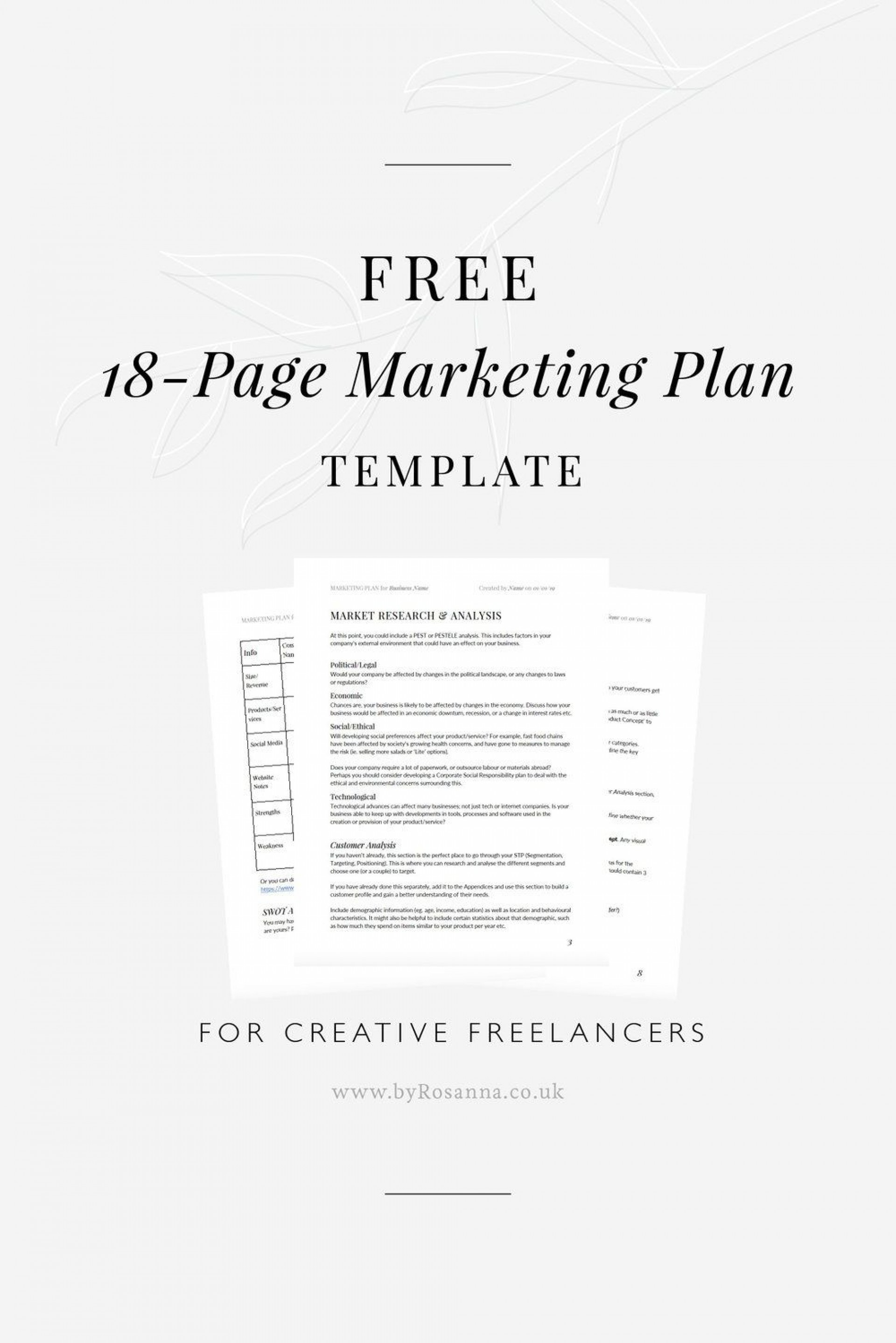 006 Unforgettable Marketing Busines Plan Template Free Inspiration  For Company Digital1920