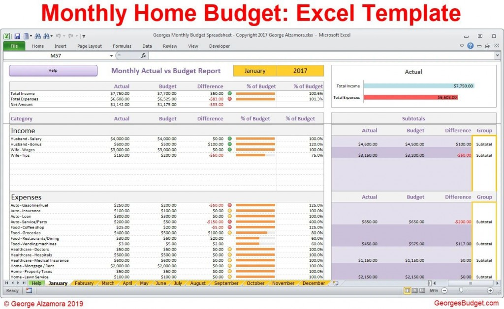 006 Unforgettable Monthly Expense Excel Template Sample  Budget Spreadsheet FreeLarge