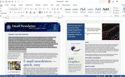006 Unforgettable M Word Newsletter Template Photo  Free Microsoft Format Example