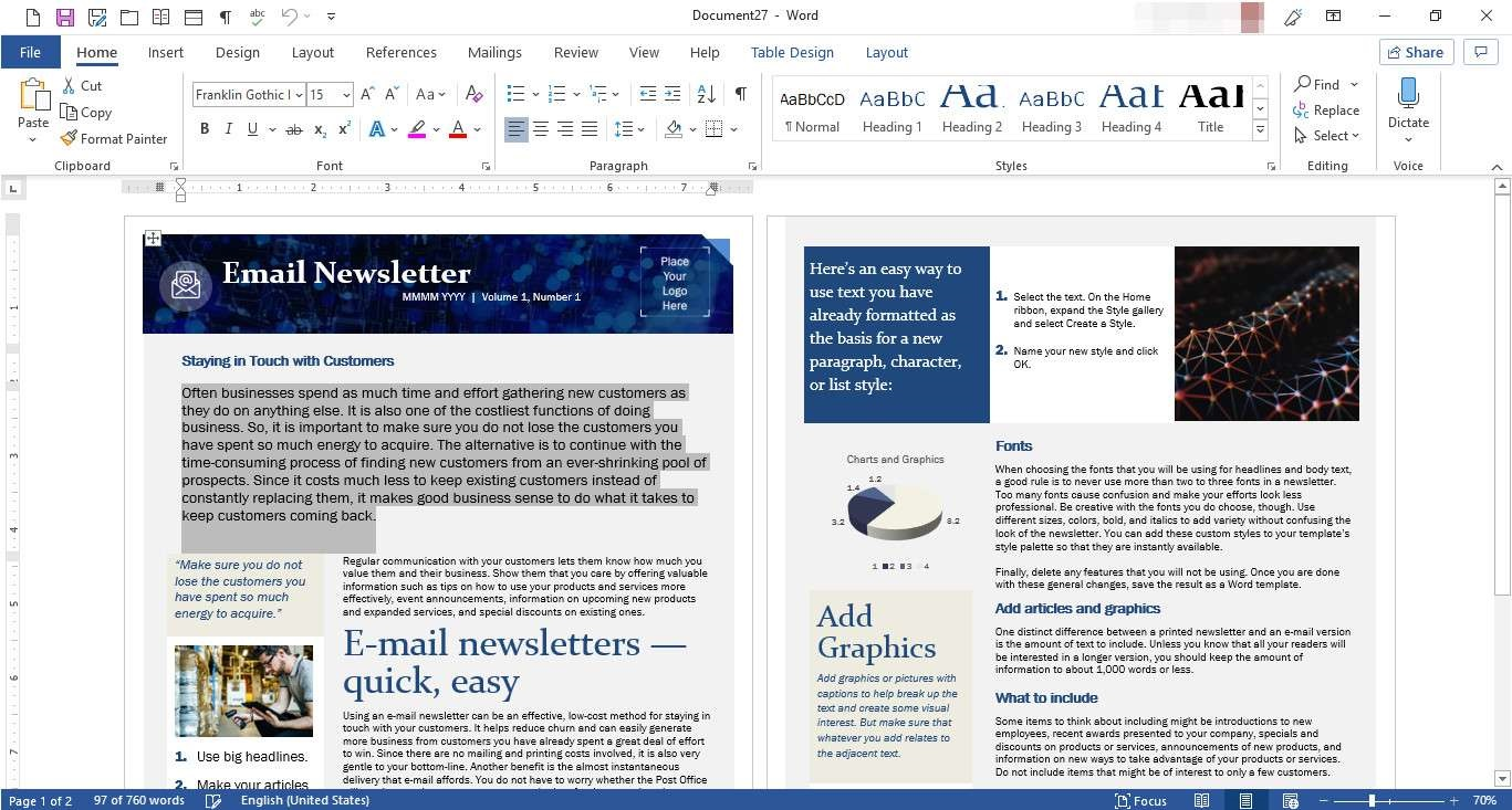 006 Unforgettable M Word Newsletter Template Photo  Free Microsoft Format ExampleFull
