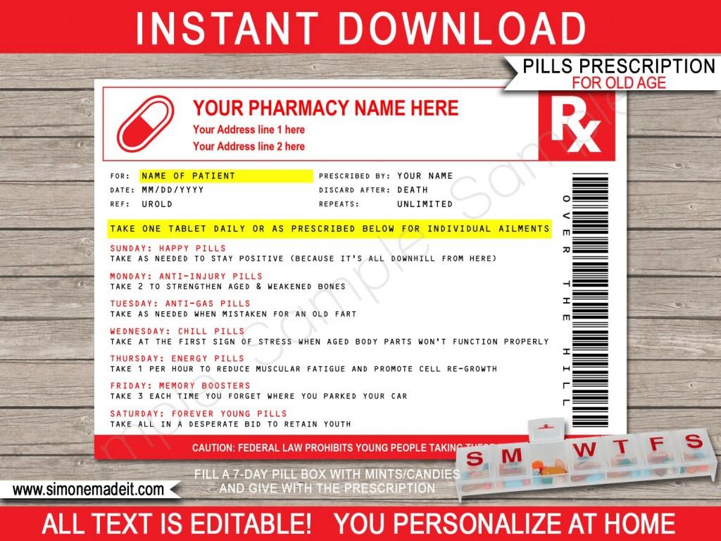 006 Unforgettable Pill Bottle Label Template Image  Vintage Medicine Printable FreeLarge