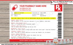 006 Unforgettable Pill Bottle Label Template Image  Vintage Medicine Printable Free