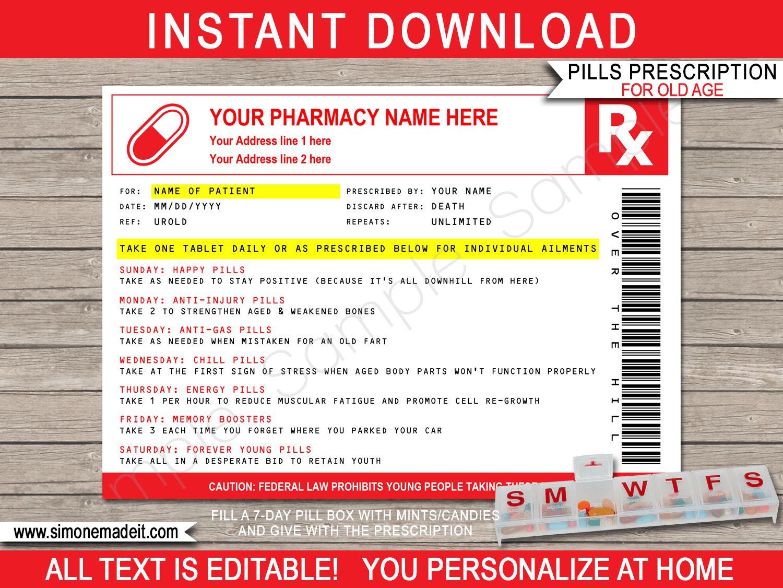 006 Unforgettable Pill Bottle Label Template Image  Vintage Medicine Printable FreeFull