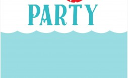 006 Unforgettable Pool Party Invitation Template Free Sample  Downloadable Printable Swimming