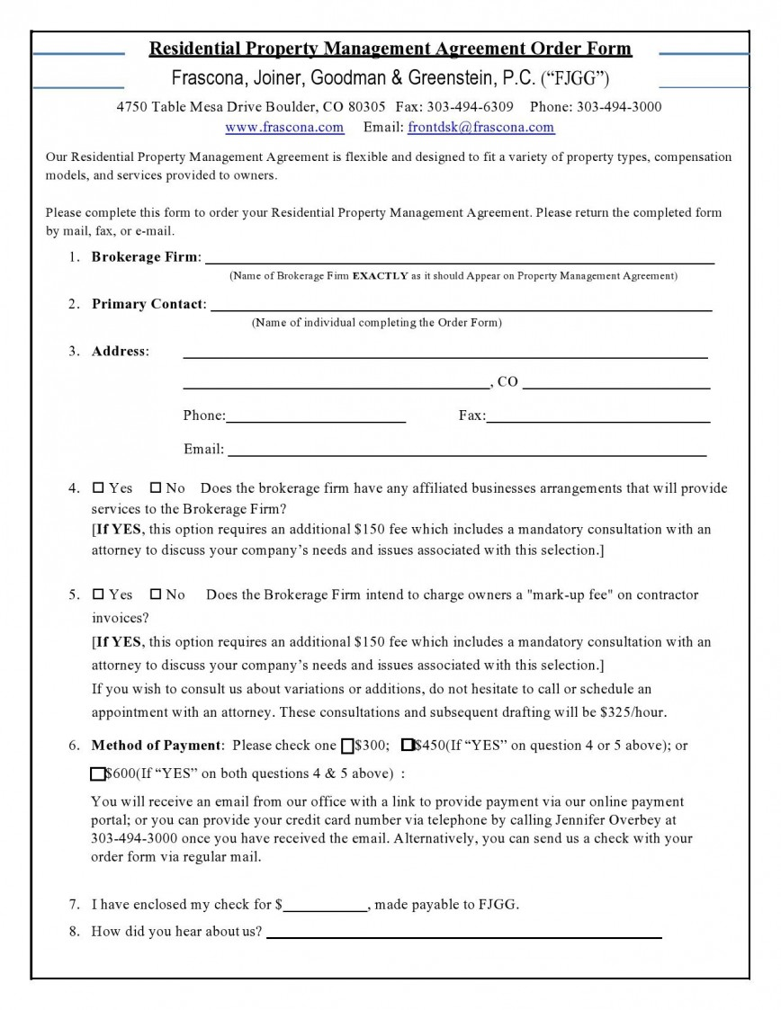 006 Unforgettable Property Management Agreement Template Picture  Templates Example Free Short Form