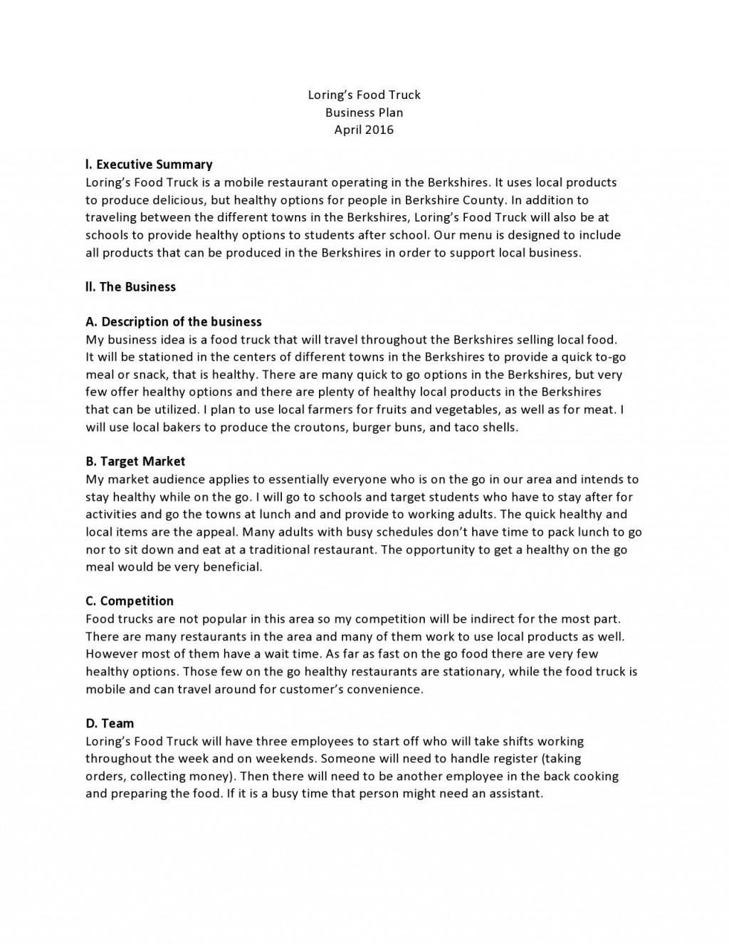 006 Unforgettable Restaurant Busines Plan Sample Uk Concept  Template FreeLarge