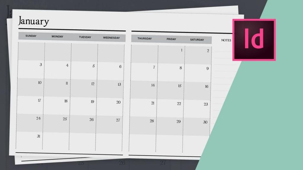 006 Unique 2020 Calendar Template Indesign Sample  Adobe FreeLarge