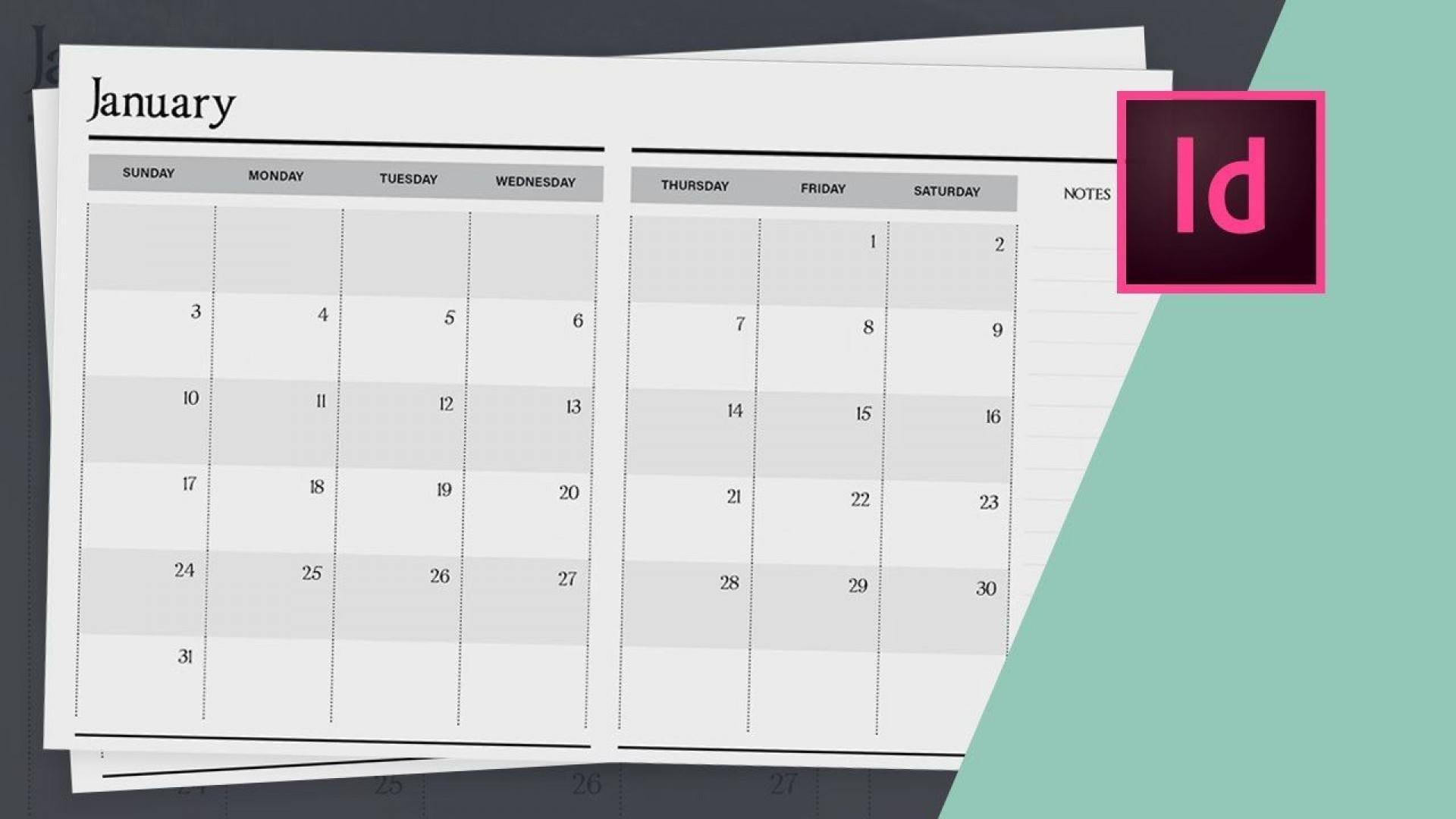 006 Unique 2020 Calendar Template Indesign Sample  Adobe Free1920