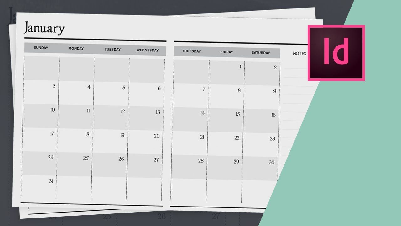 006 Unique 2020 Calendar Template Indesign Sample  Adobe FreeFull