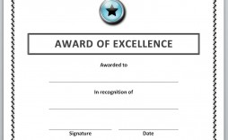 006 Unique Award Certificate Template Word Highest Quality  Doc Sample Wording Scholarship