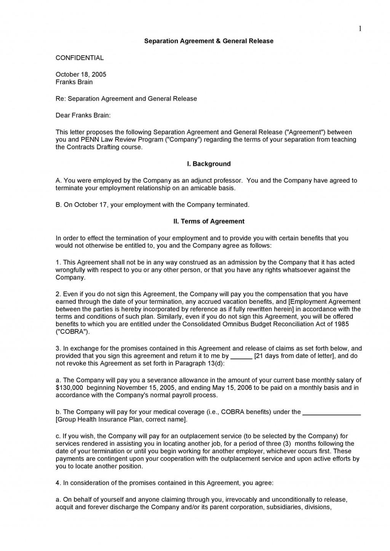 006 Unique Busines Partnership Separation Agreement Template Concept  Partner TerminationLarge