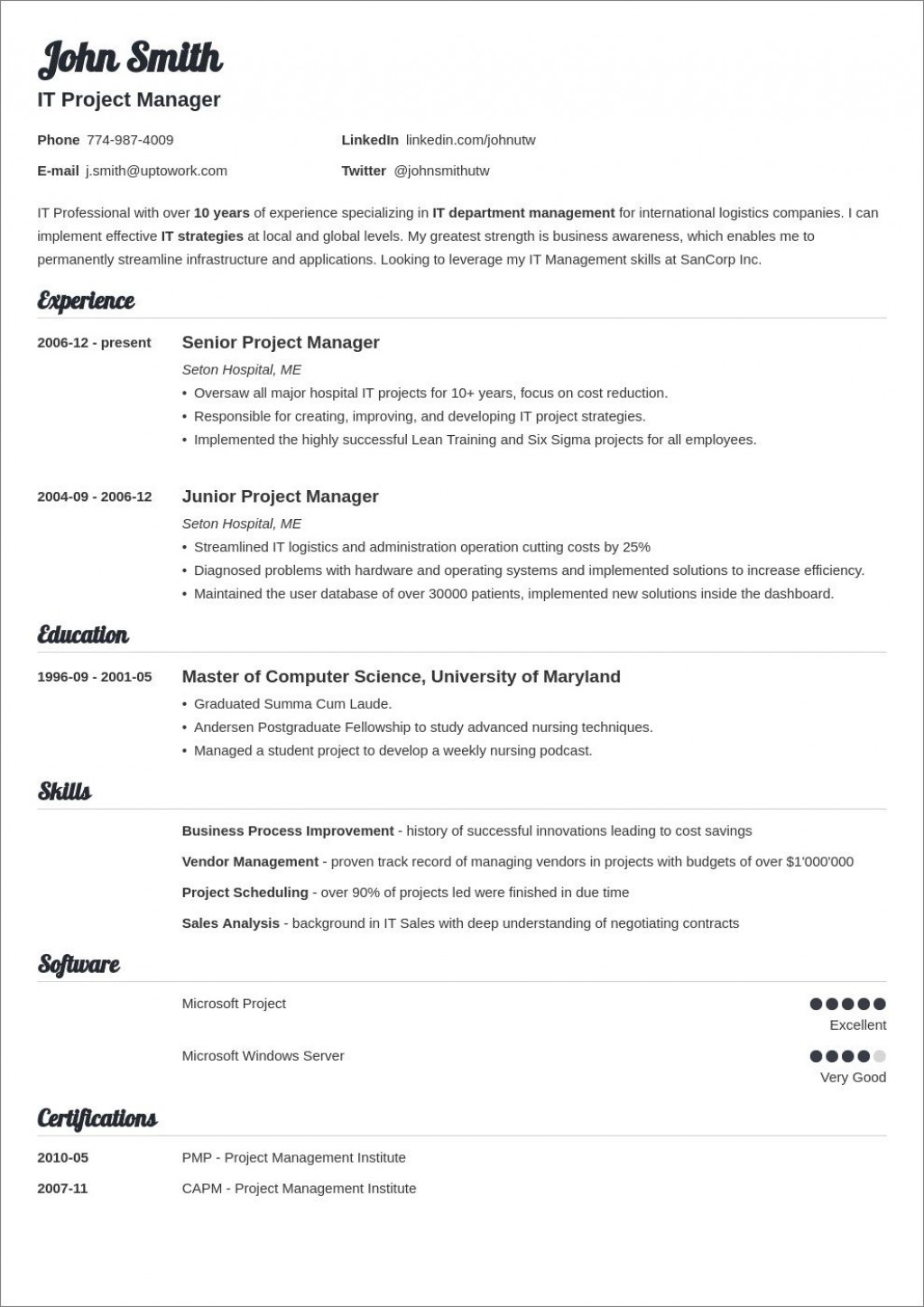 006 Unique Downloadable Resume Template Word Sample  Free Download Philippine 2018Large