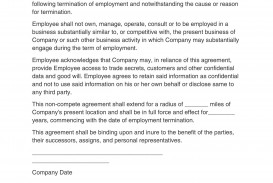 006 Unique Employee Non Compete Agreement Template Photo  Free Confidentiality Non-compete Disclosure