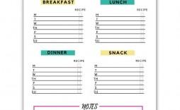 006 Unique Free Printable Weekly Meal Plan Template Image  Planning Worksheet
