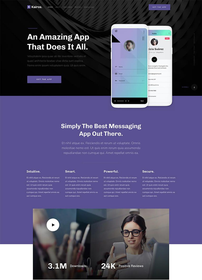 006 Unique Free Responsive Landing Page Template Highest Clarity  Templates Pardot Html5Full