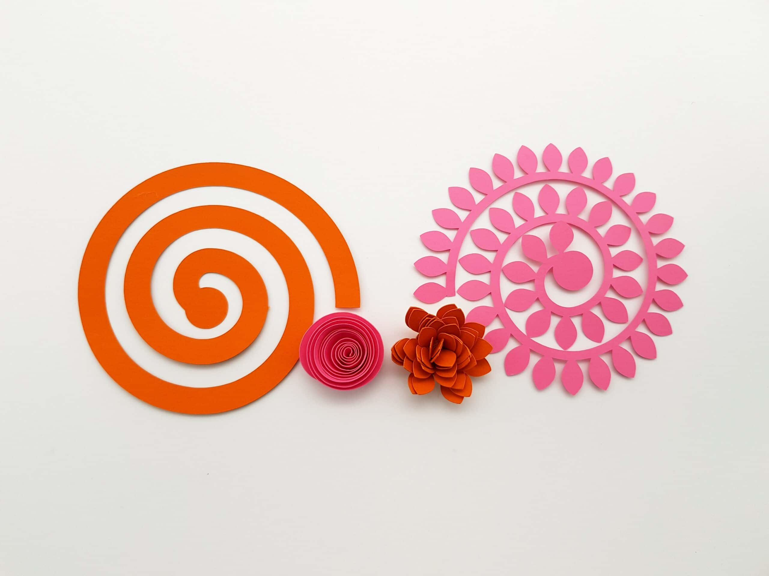 006 Unique Free Rolled Paper Flower Template For Cricut Image Full