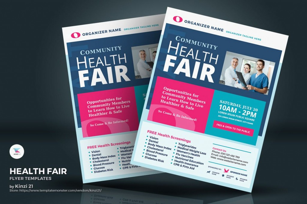 006 Unique Health Fair Flyer Template Free Inspiration  DownloadLarge