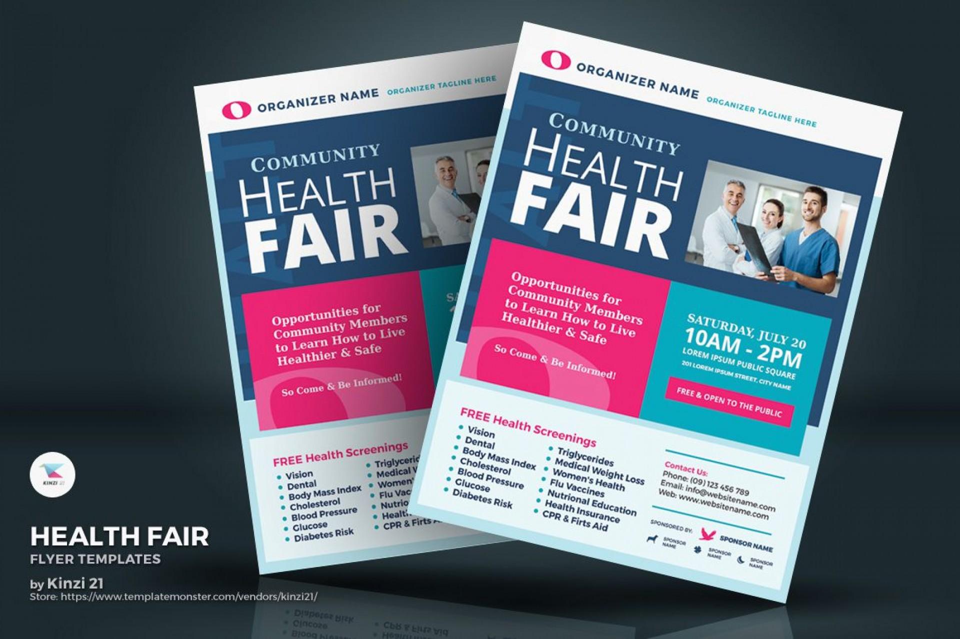 006 Unique Health Fair Flyer Template Free Inspiration  Download1920