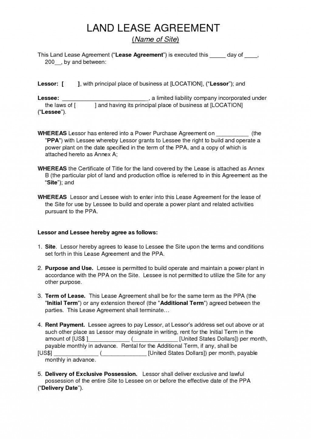 006 Unique Land Lease Agreement Template Highest Quality  Templates Uk Farm FreeLarge