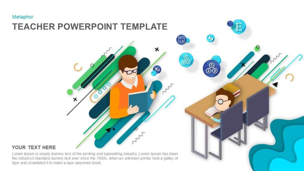 006 Unique Ppt Template For Teacher Example  Teachers Free Download Powerpoint Education KindergartenLarge