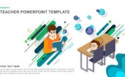 006 Unique Ppt Template For Teacher Example  Teachers Free Download Powerpoint Education Kindergarten