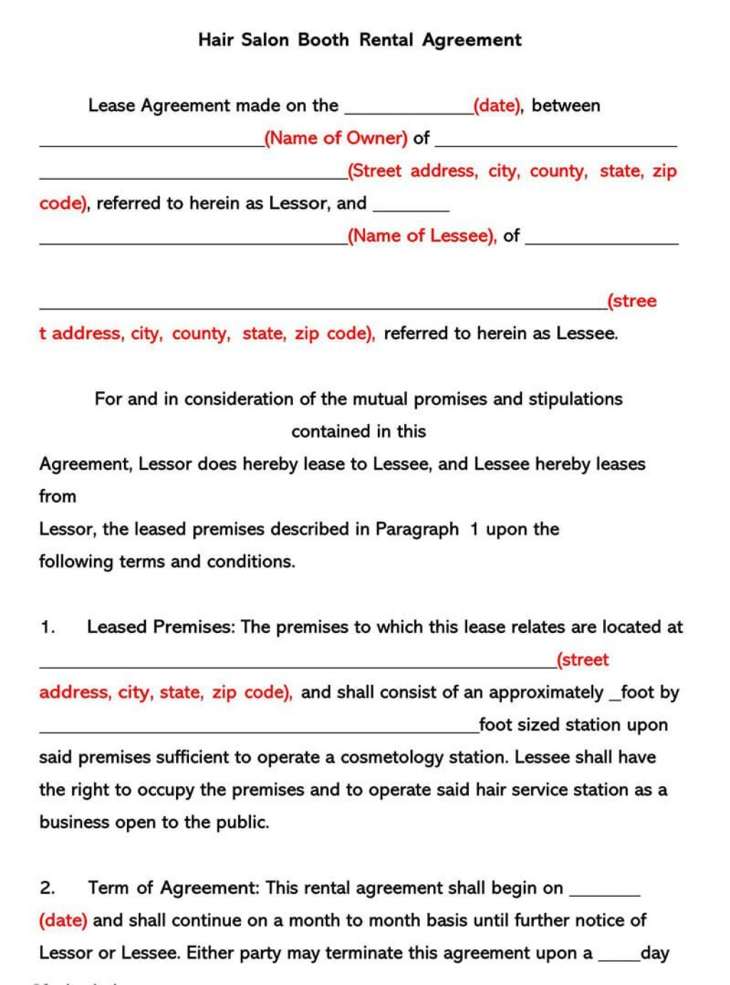 006 Unique Rental Lease Template Free Download Image  California Agreement Florida Word FormatLarge