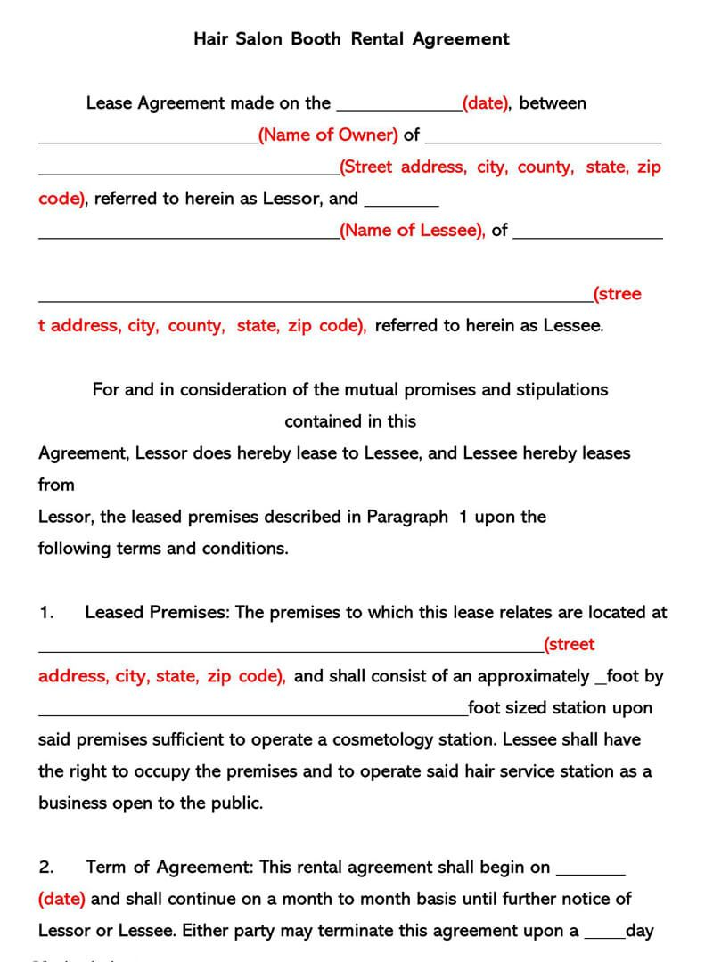 006 Unique Rental Lease Template Free Download Image  California Agreement Florida Word FormatFull