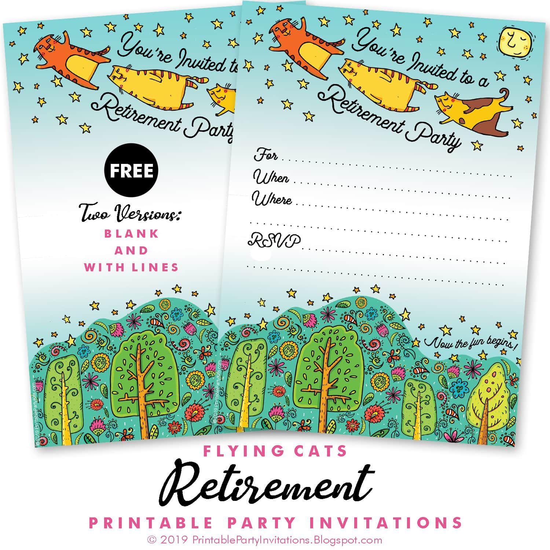 006 Unique Retirement Farewell Party Invitation Template Free Concept Full