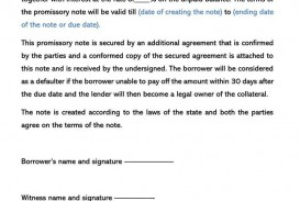 006 Unique Secured Promissory Note Template Concept  Georgia California Word