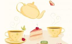 006 Unique Tea Party Invitation Template Design  Templates High Free Download Bridal Shower