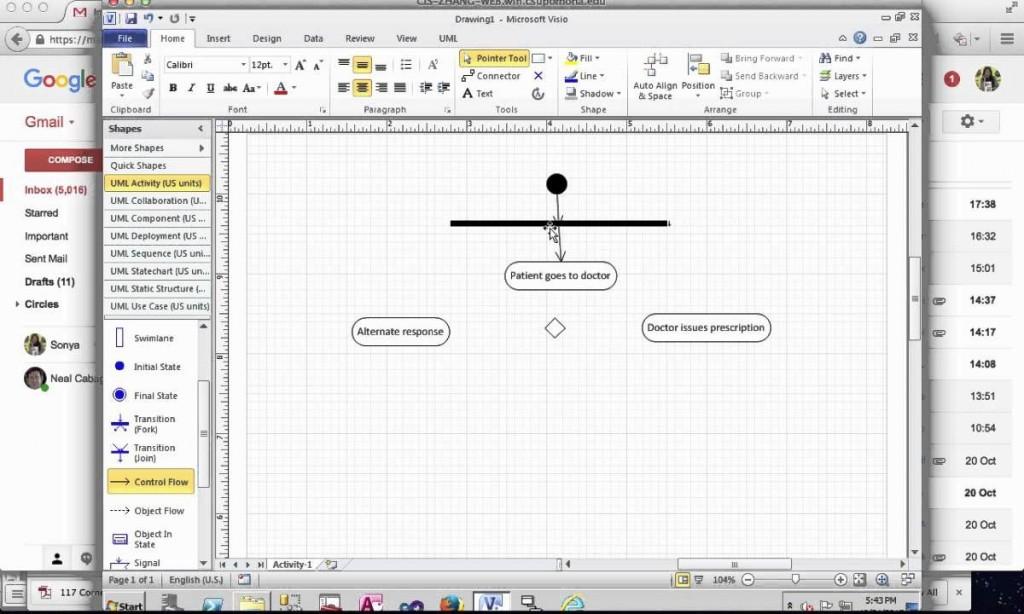 006 Unique Use Case Diagram Microsoft Visio 2010 Example Large