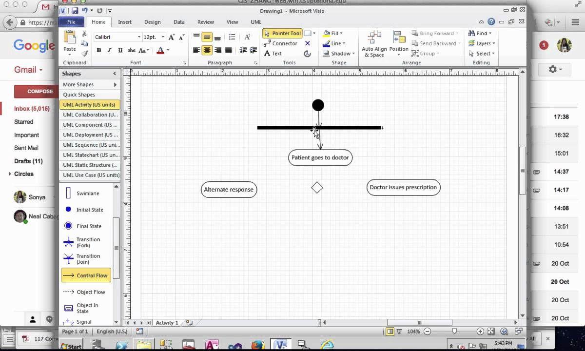 006 Unique Use Case Diagram Microsoft Visio 2010 Example Full