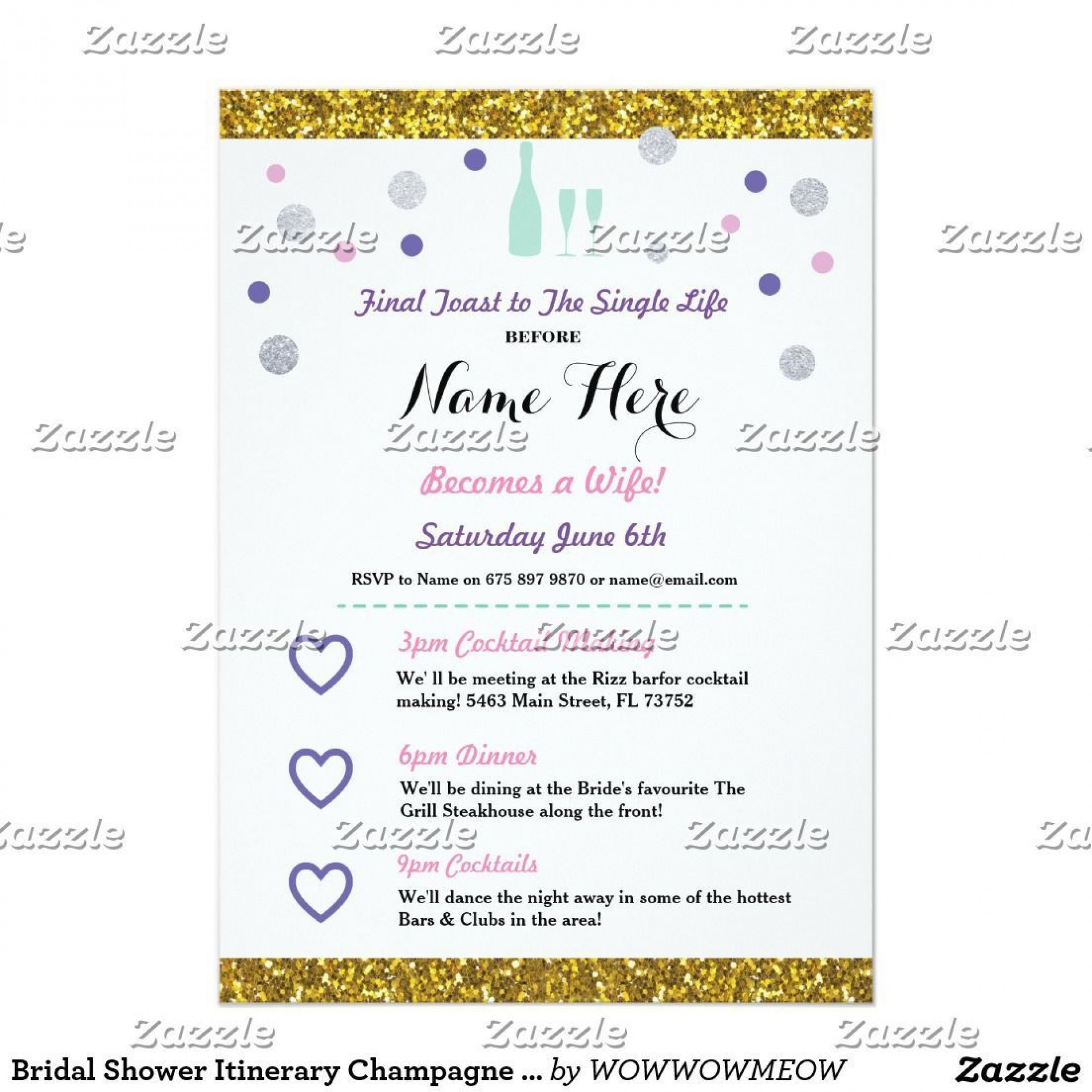 006 Unusual Bachelorette Itinerary Template Free High Resolution  Party Editable Download1920